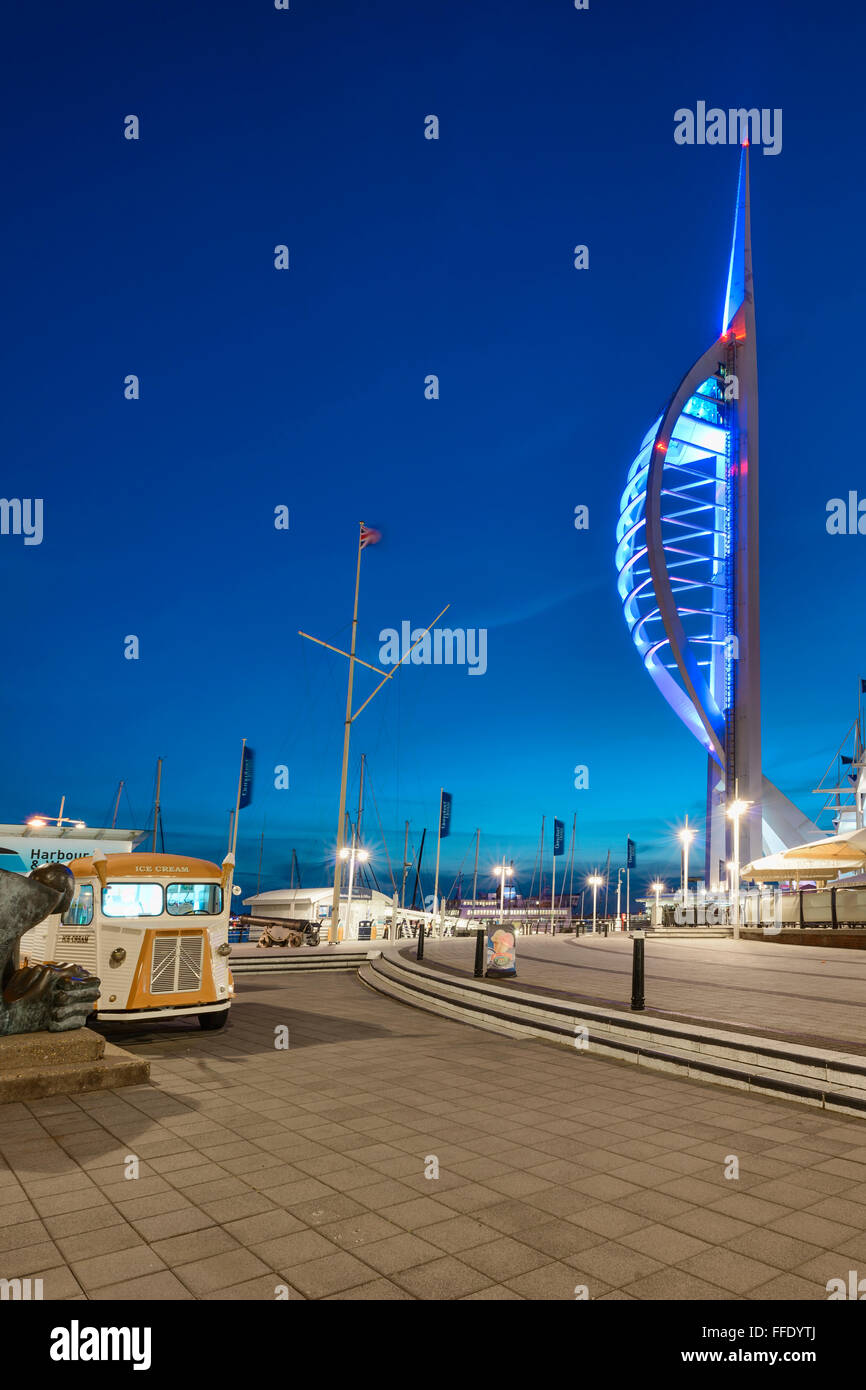Upright of the blue Spinnaker Stock Photo