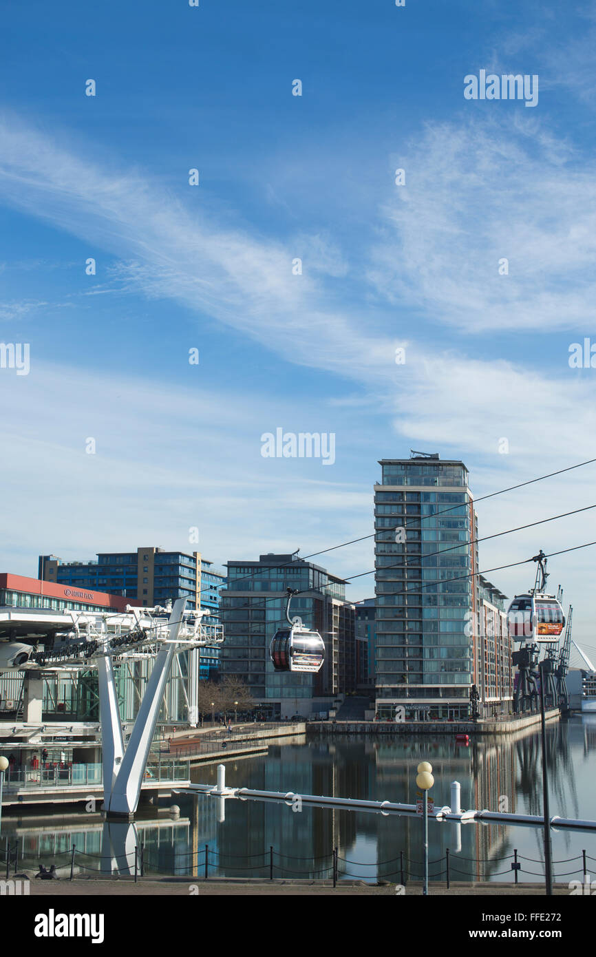 The Royal Victoria Dock, London Docklands, East London, England, United Kingdom - Stock Image