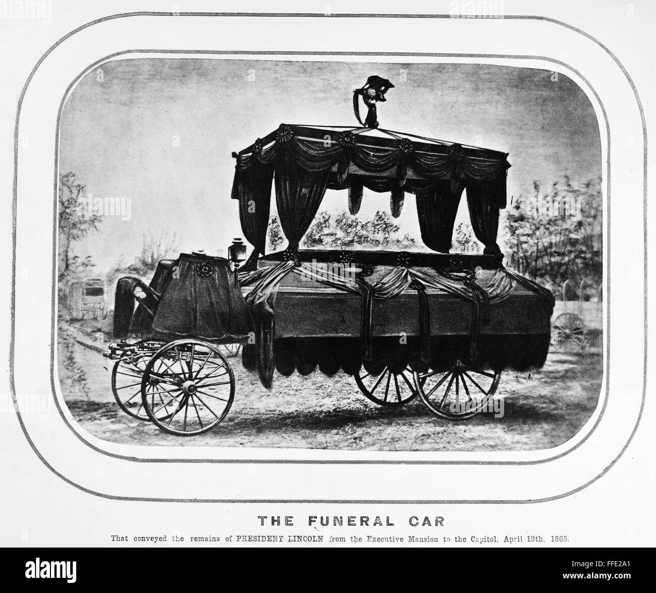 Lincoln Funeral 1865 Nthe Funeral Carriage That Carried President