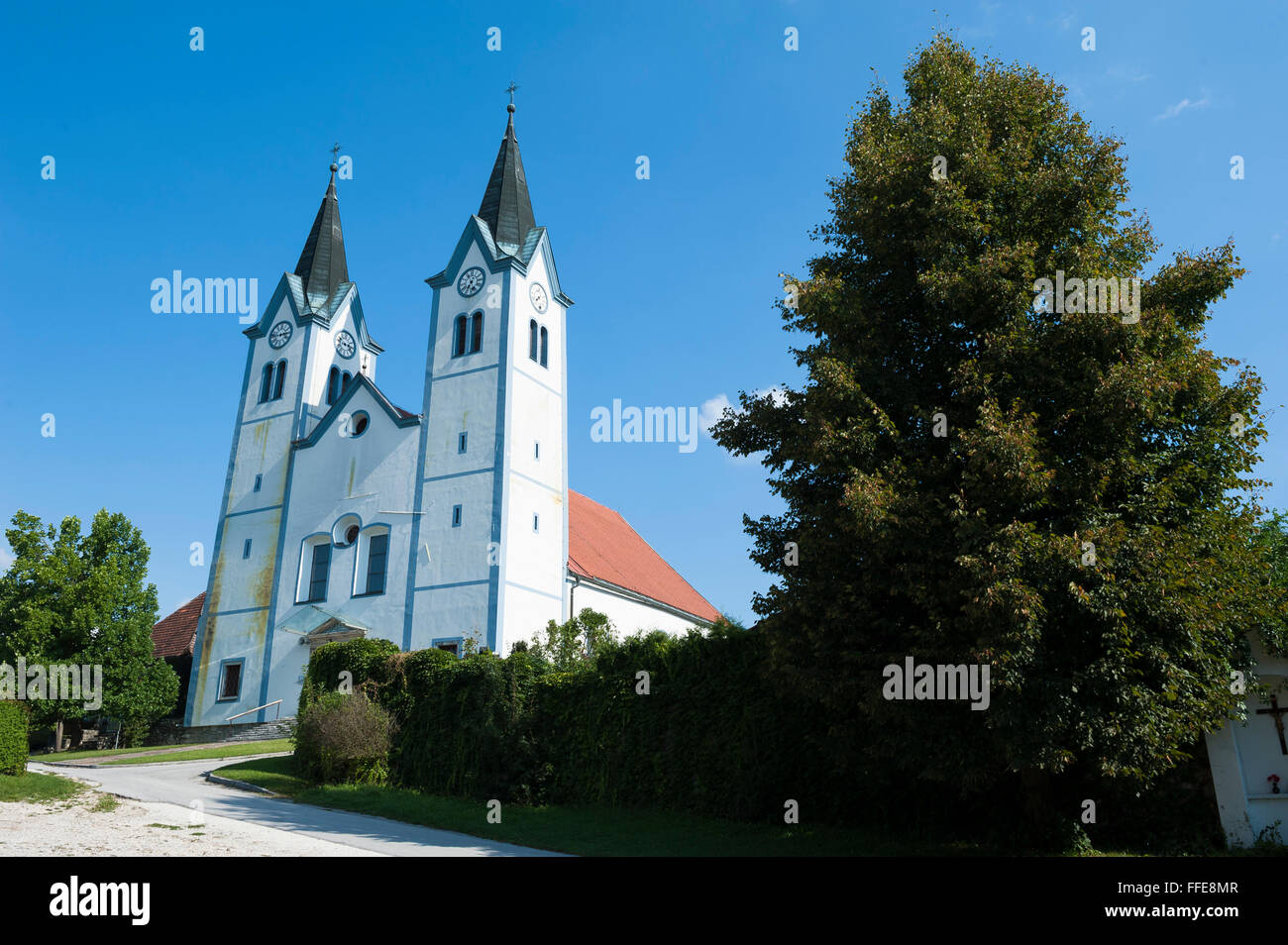 monastic church dedicated to Mary of Nazareth, Nazarje, Savinja Statistical region, Styria, Slovenia, Europe - Stock Image