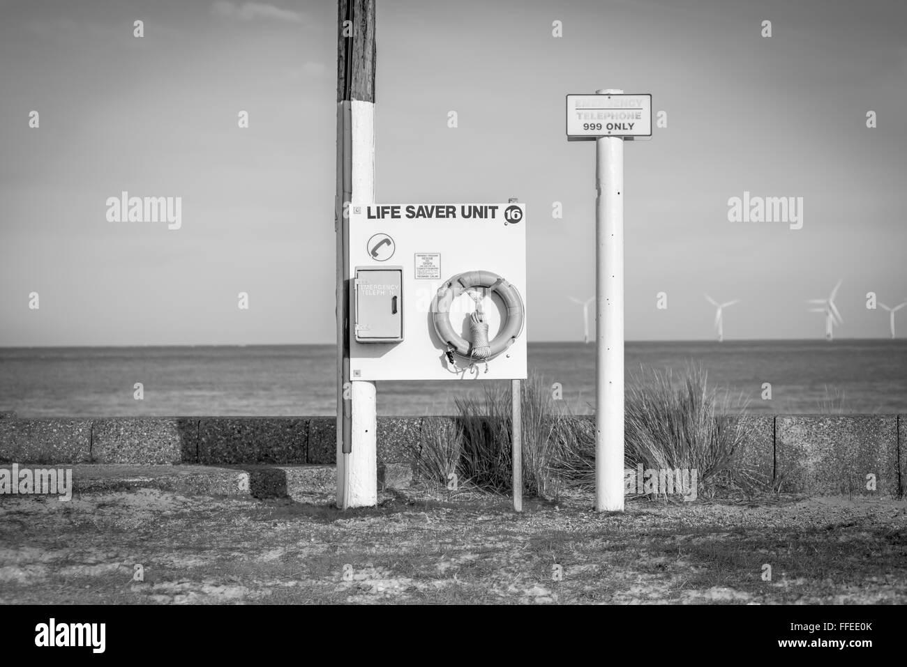 Coastal Life Saver Unit at Caister-on-Sea, England - Stock Image