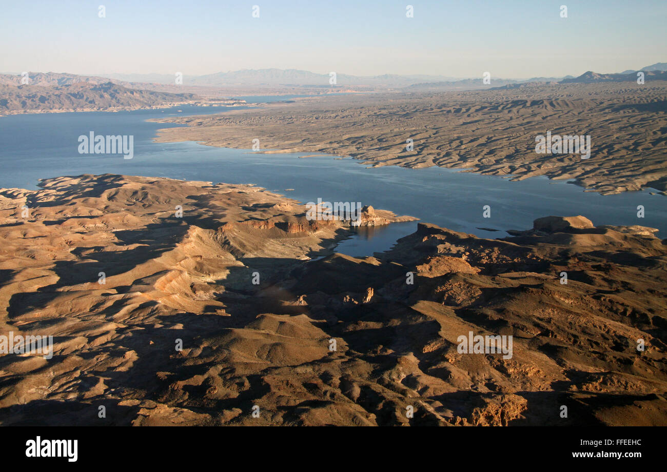 aerial view from a helicopter of the Arizona landscape, USA - Stock Image