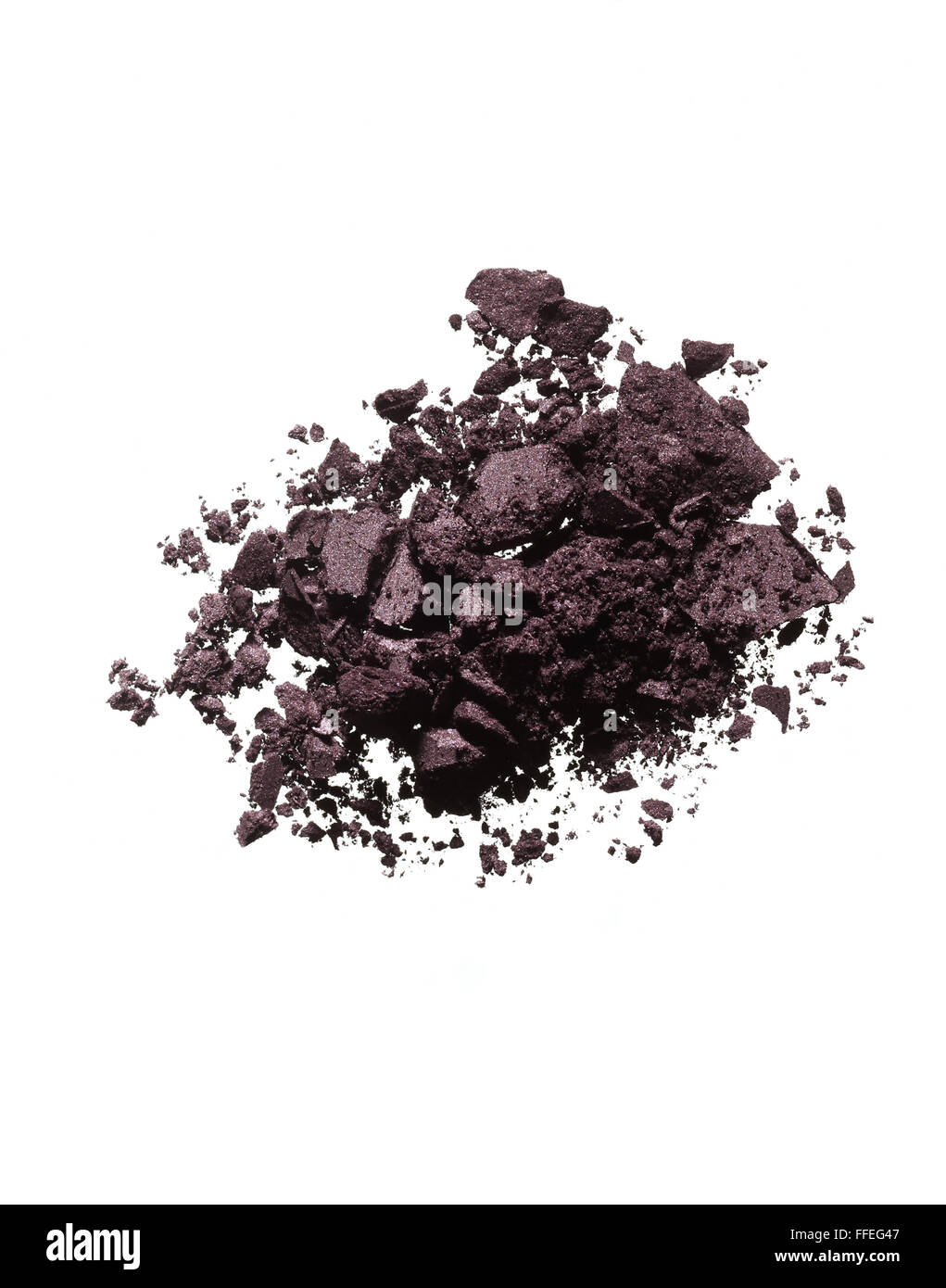 Dark purple eyeshadow powder - Stock Image