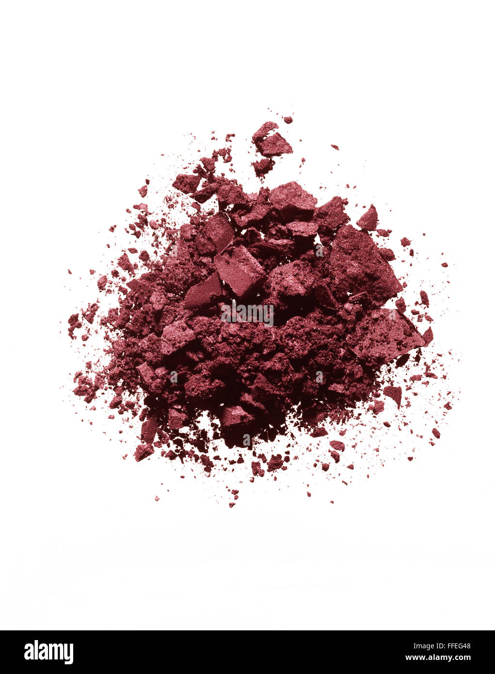 Red eyeshadow powder - Stock Image