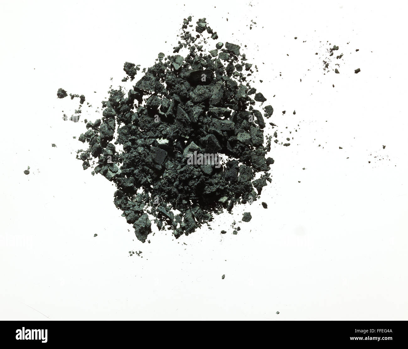 Black eyeshadow powder - Stock Image