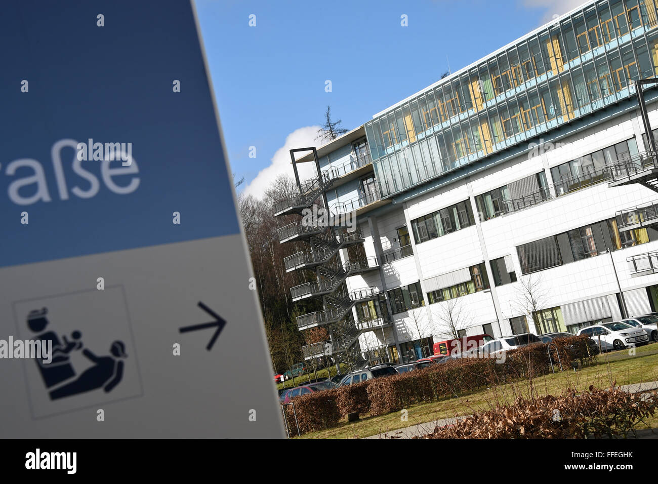 View of the Gynaecological and Paediatric Clinic of the University Medical Centre Marburg, Germany, 12 February - Stock Image