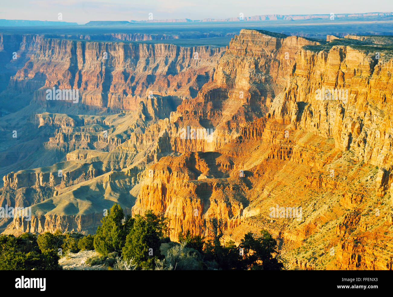 Grand Canyon is a steep-sided canyon carved by Colorado River in Arizona. Inhabited by Native American Indians, - Stock Image