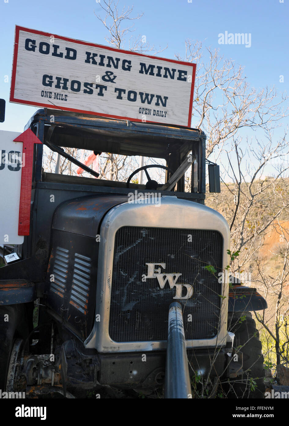 Gold King Mine truck Jerome Arizona.Founded 19th century on Cleopatra Hill overlooking Verde Valley, richest copper - Stock Image