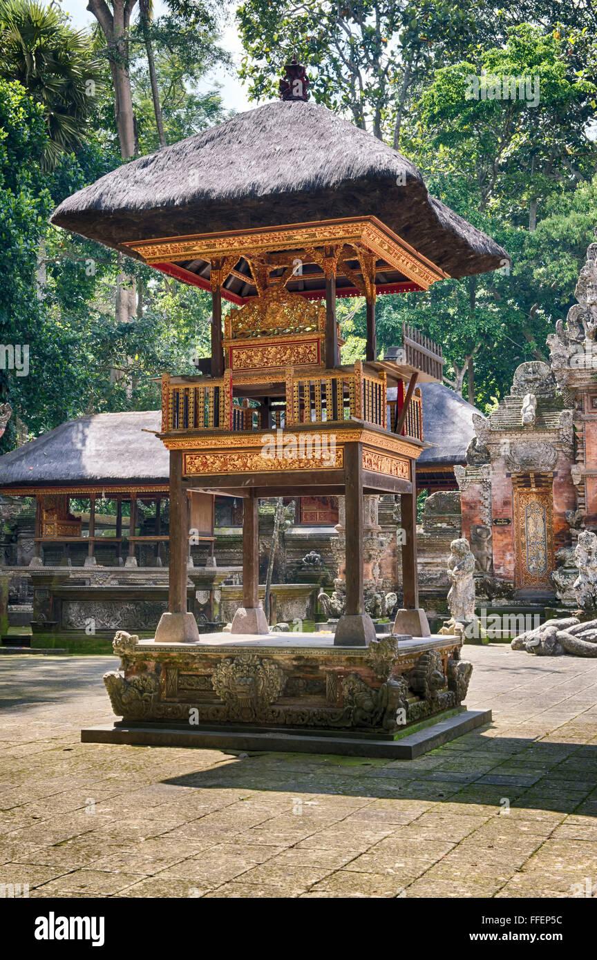 Pura Dalem Agung Padangtegal Temple, Sacred Monkey Forest, Ubud, Bali, Indonesia - Stock Image