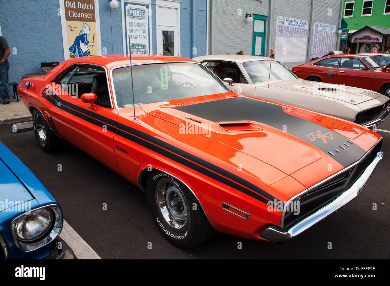 Dodge Challenger R T V8 At Kissimmee Old Town Weekly Car Cruise