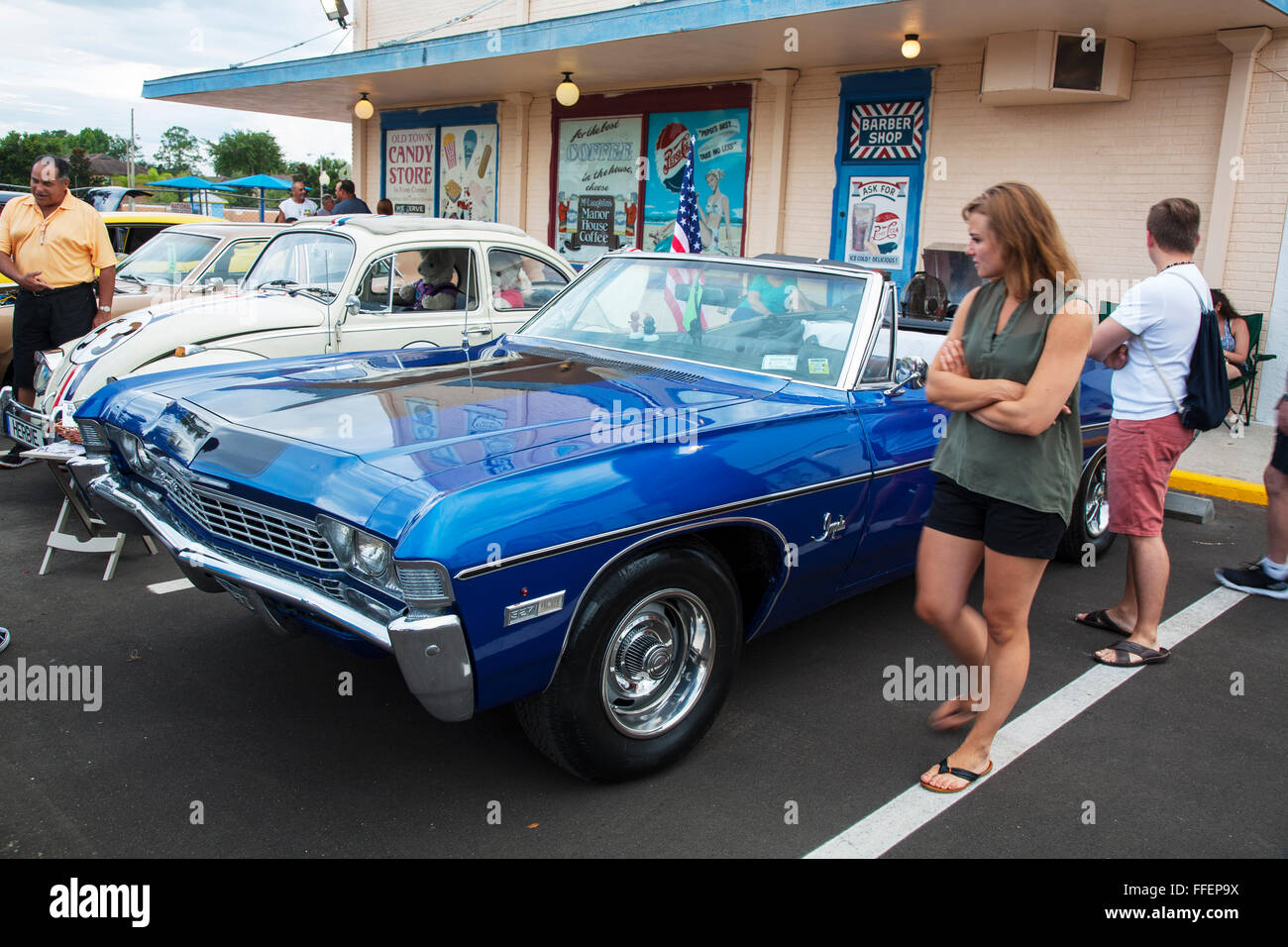 Chevy Impala convertible at Kissimmee Old Town weekly car cruise ...