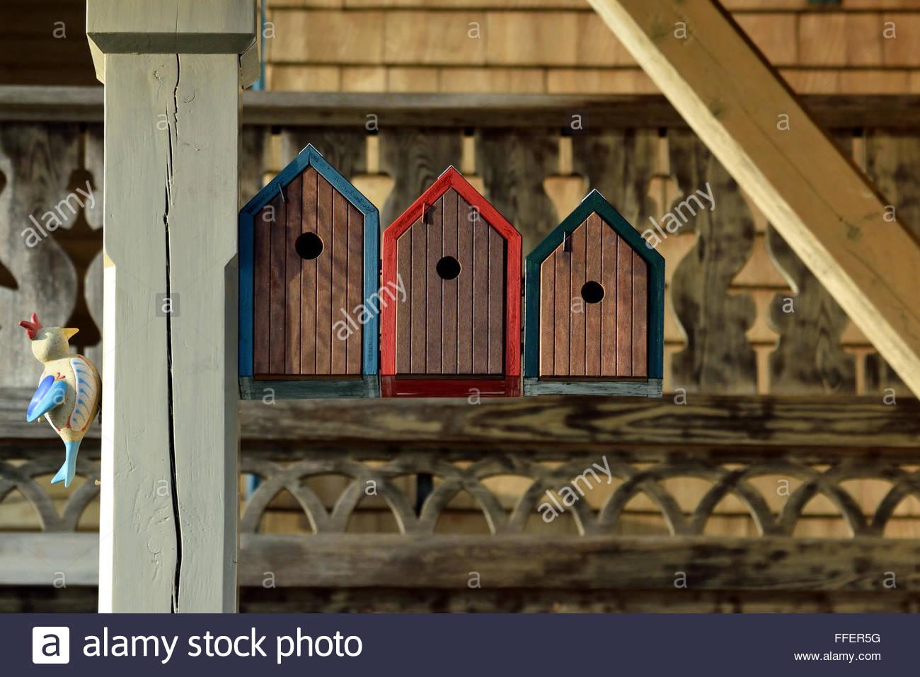 Birdhouse in the garden - Stock Image