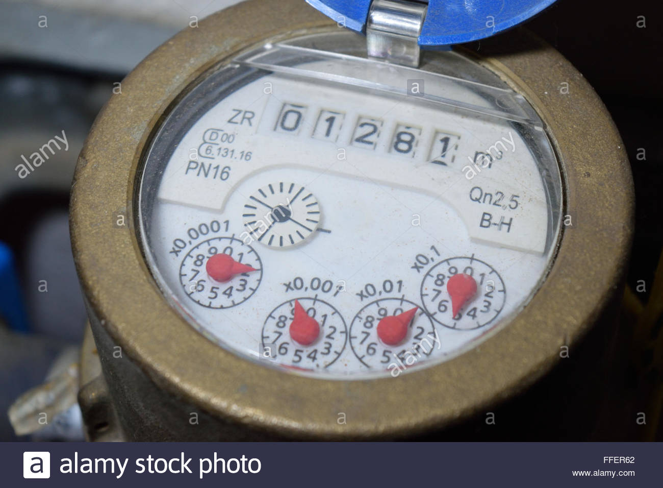 Water meter - Stock Image