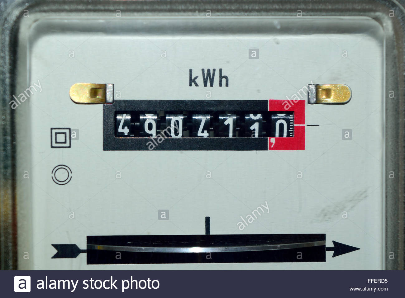 Electric meter - Stock Image