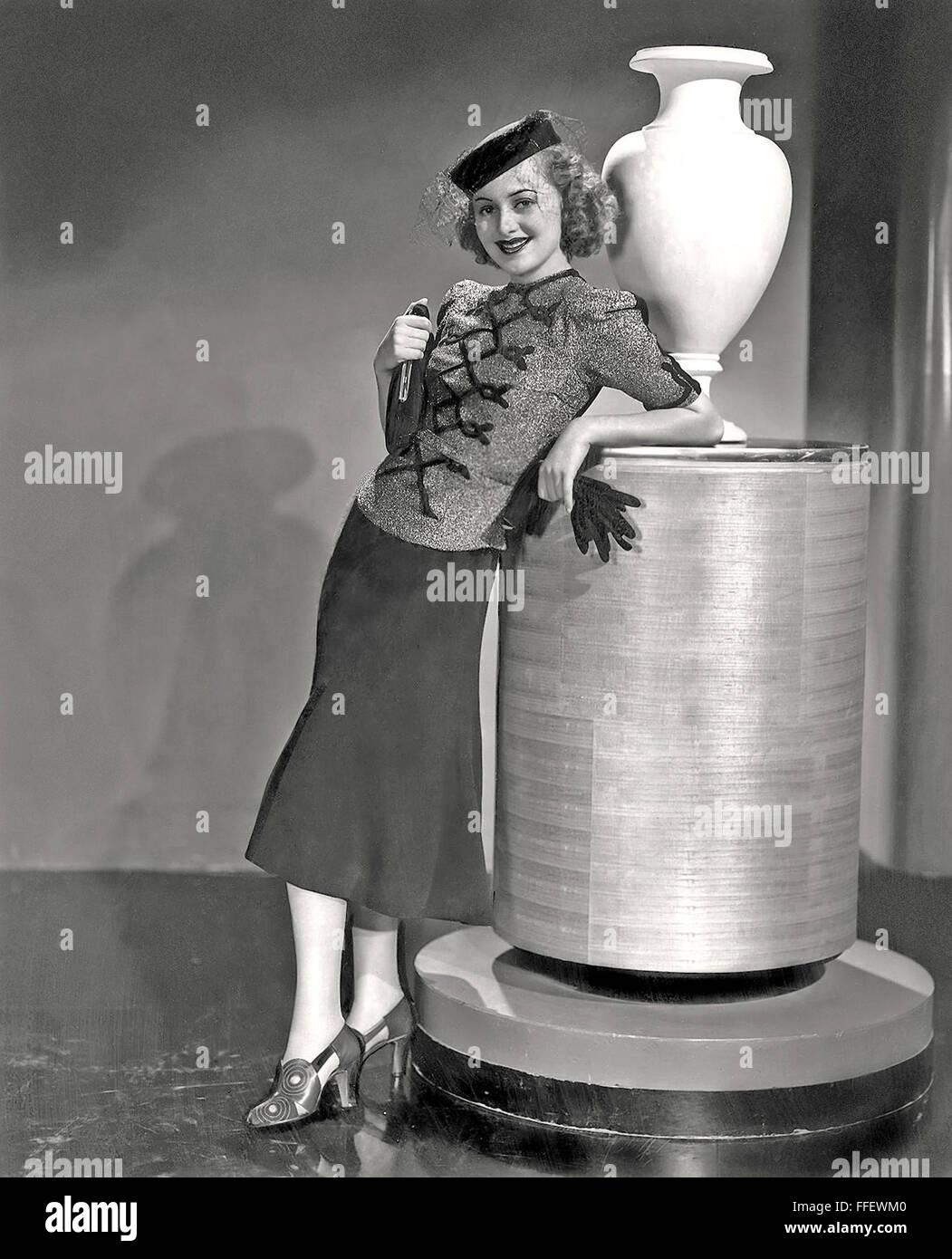 OLIVIA de HAVILLAND  US film actress about 1935 - Stock Image