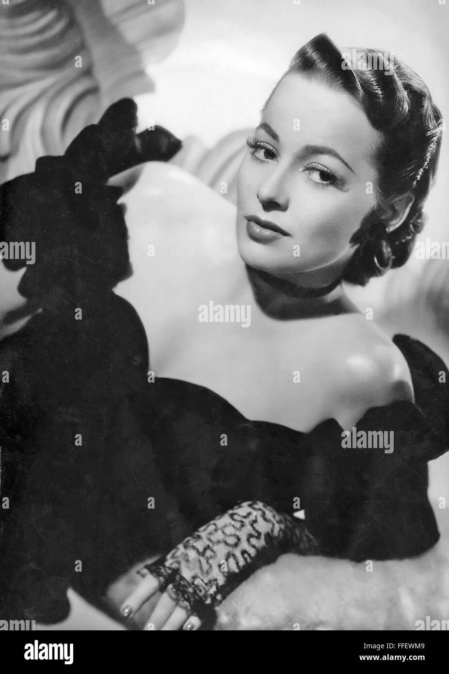 OLIVIA de  HAVILLAND  US film actress about  1940 - Stock Image