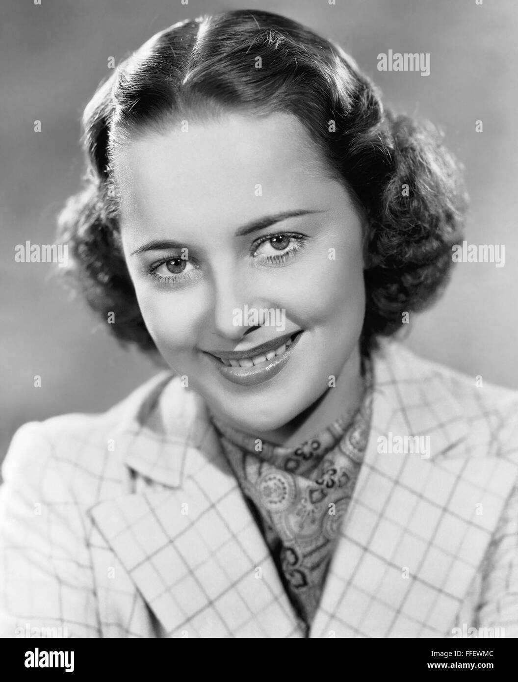 OLIVIA de HAVILLAND  US film actress about 1938 - Stock Image