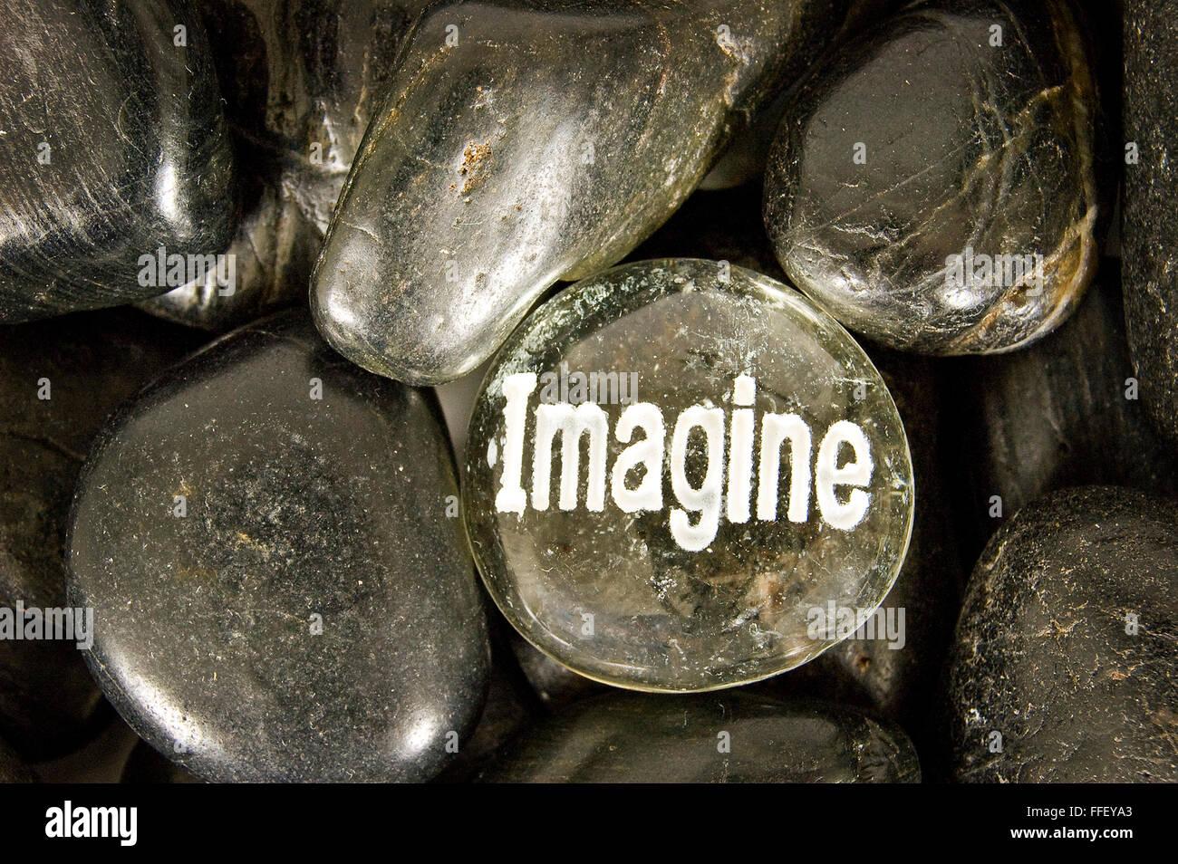 Imagine Rock - Stock Image