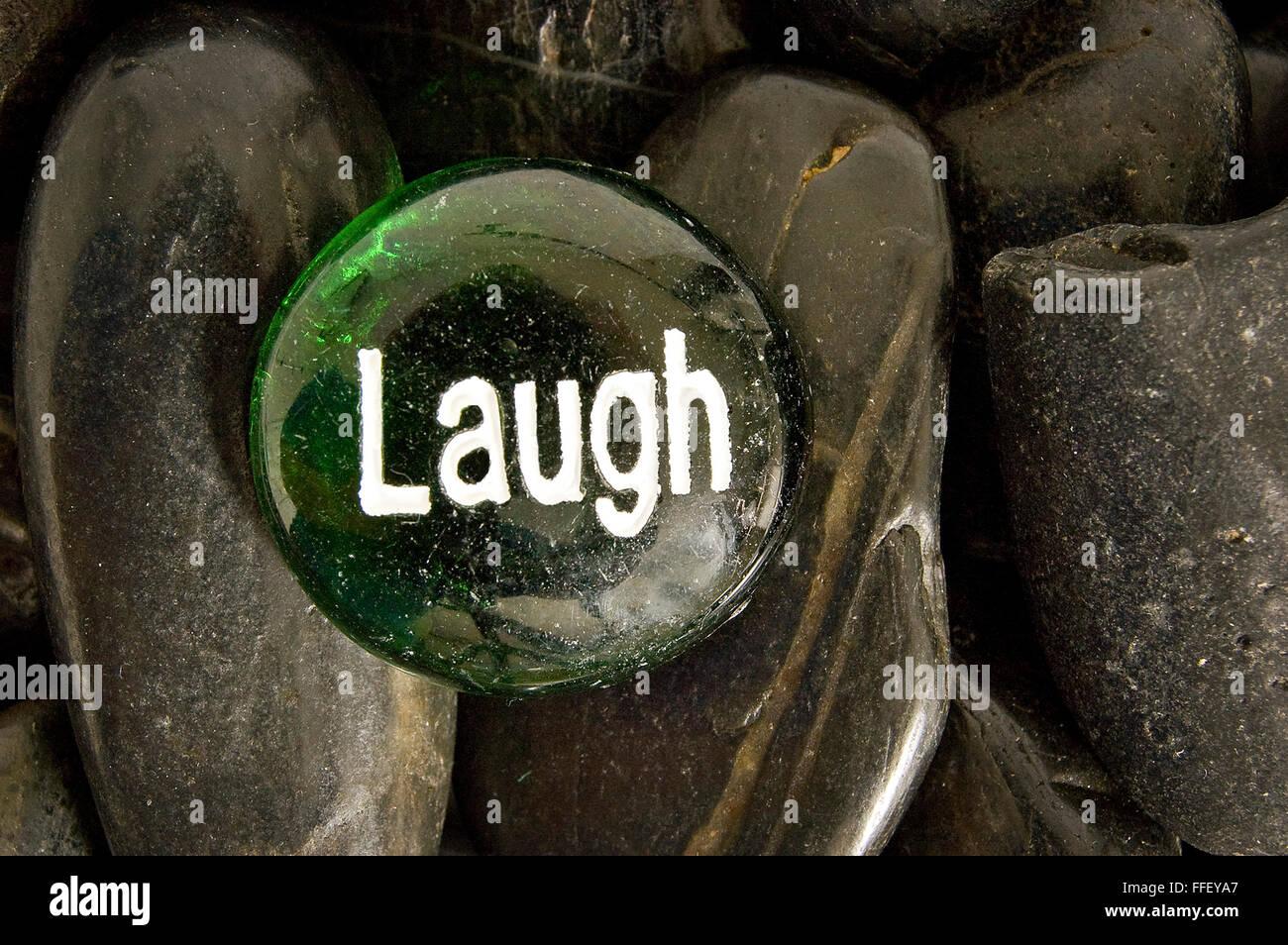 Laugh Rock - Stock Image