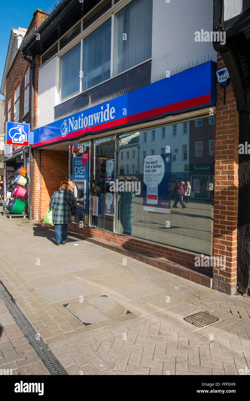 Nationwide In Andover Hampshire - Stock Image