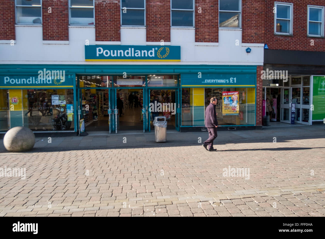 Poundland In Andover Hampshire - Stock Image