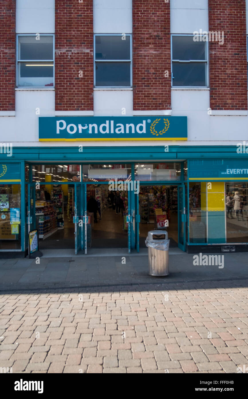 Pounldand  In Andover Hampshire - Stock Image