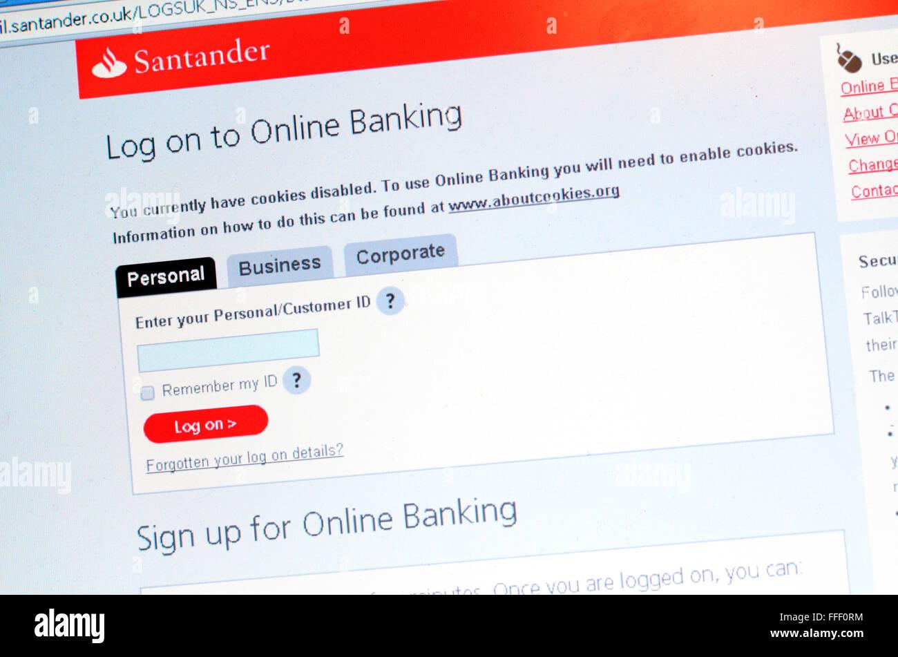 Santander Online Banking Log On Instructions Gallery