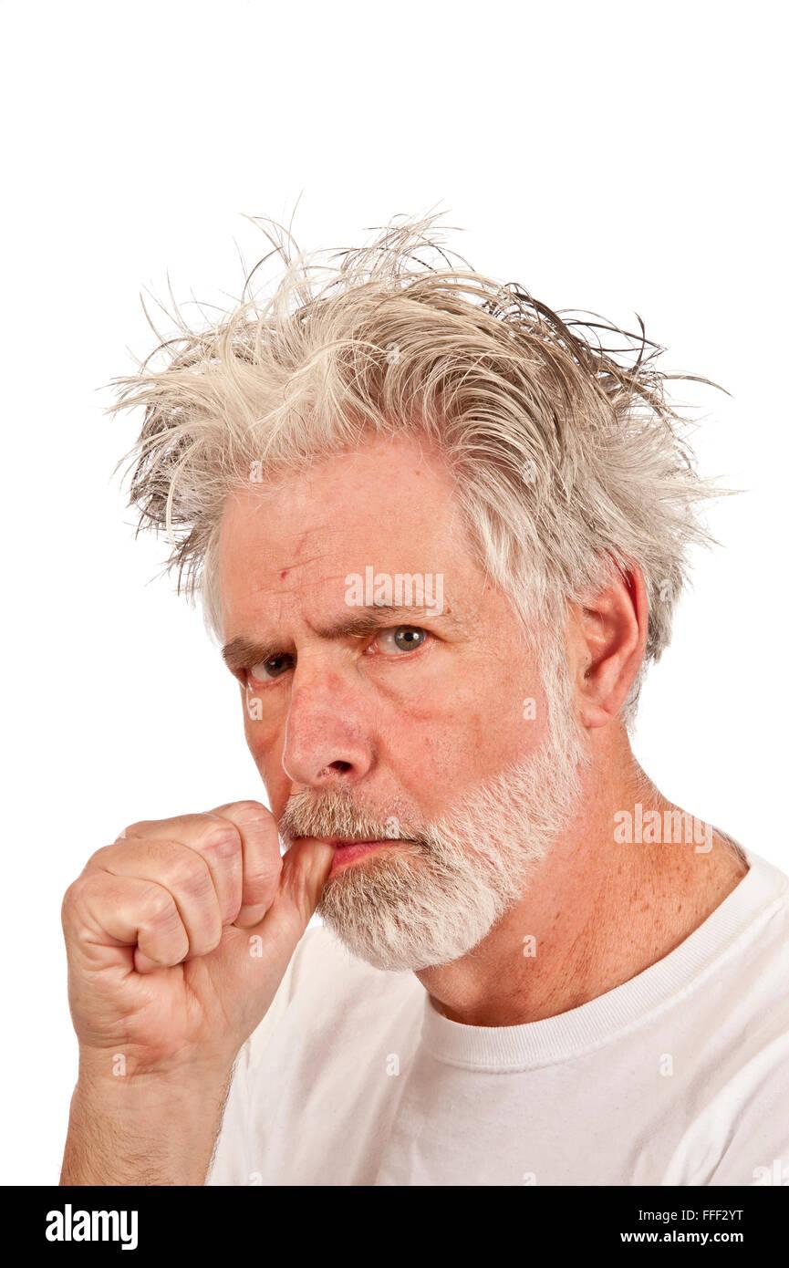 Weird Old Man Sucking His Thumb Stock Photo: 95603308 - Alamy