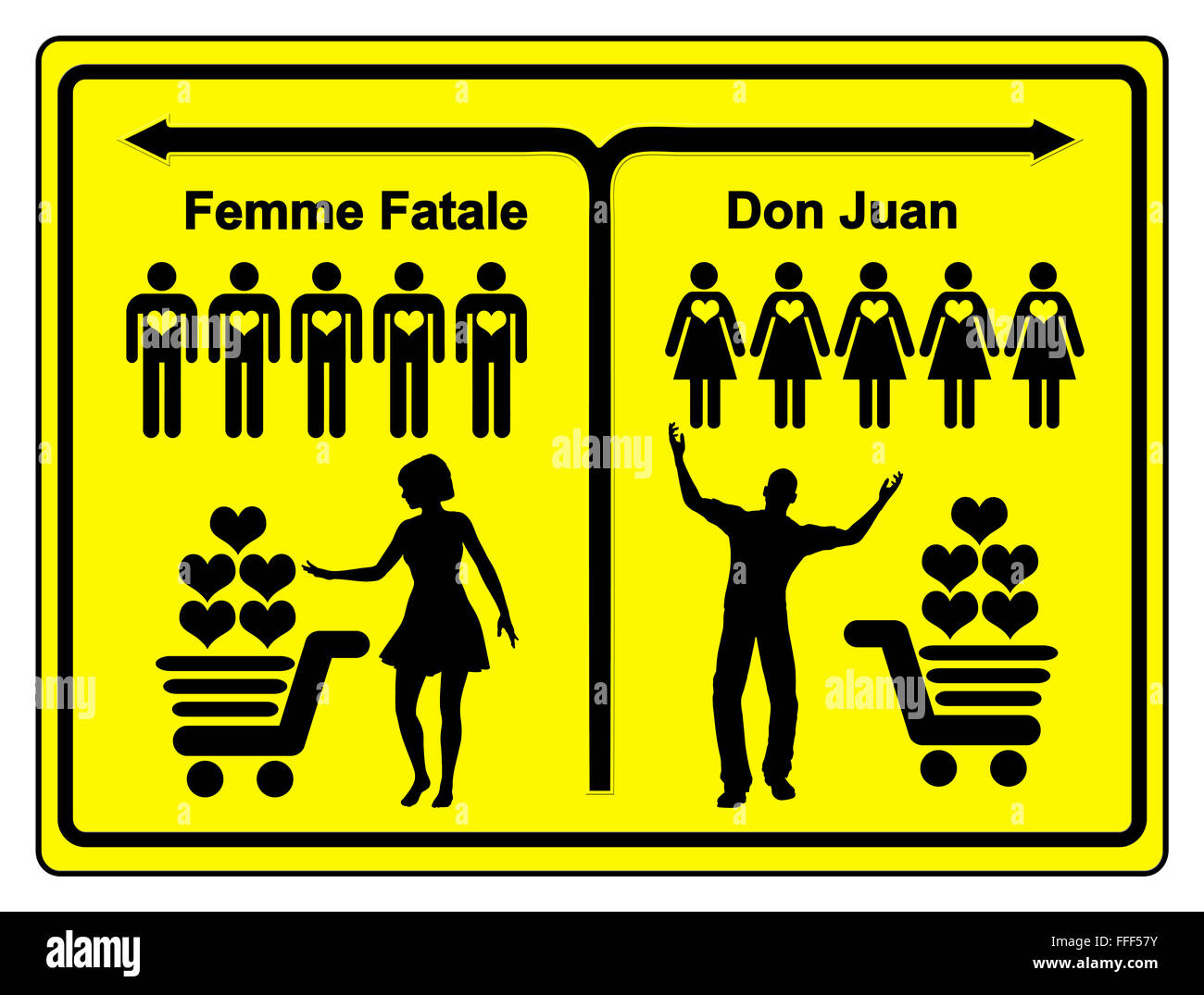 Femme Fatale and Don Juan - Stock Image