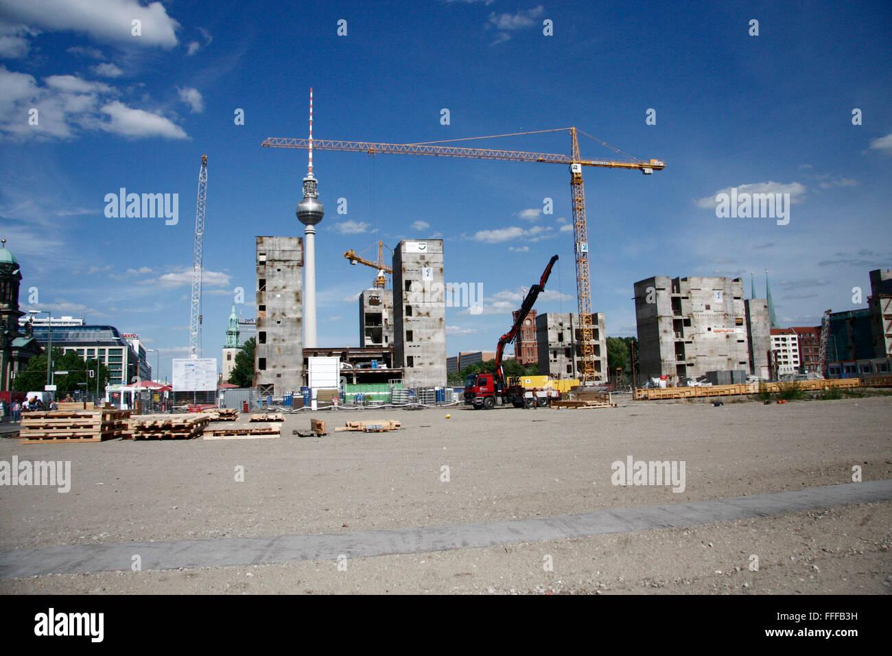 Ruine des Palastes der Republik im August 2008, Berlin-Mitte. - Stock Image