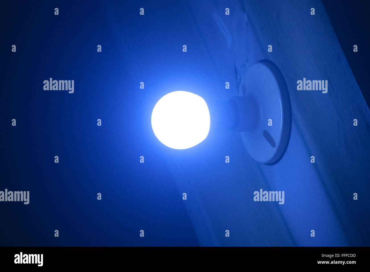 Blue light which resembles a good idea - Stock Image
