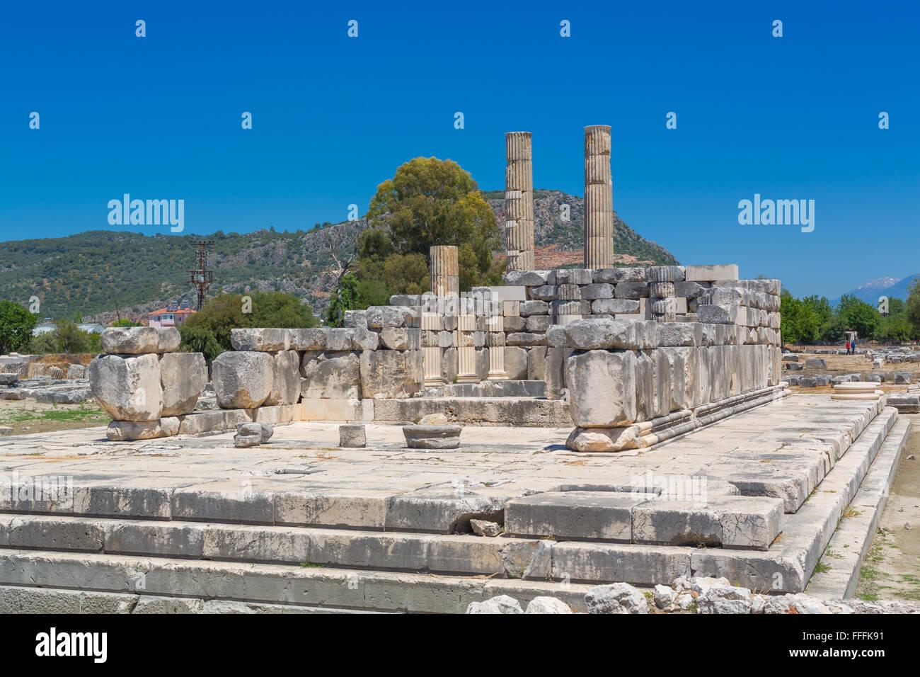Ruins of ancient Letoon, Antalya Province, Turkey - Stock Image