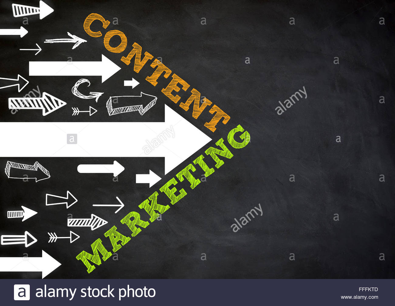 Content Marketing - direction - Stock Image