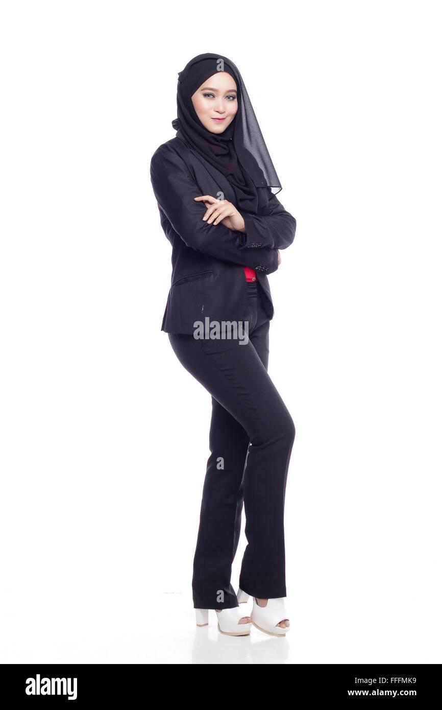 businesswoman in corporate attire isolated stock photos