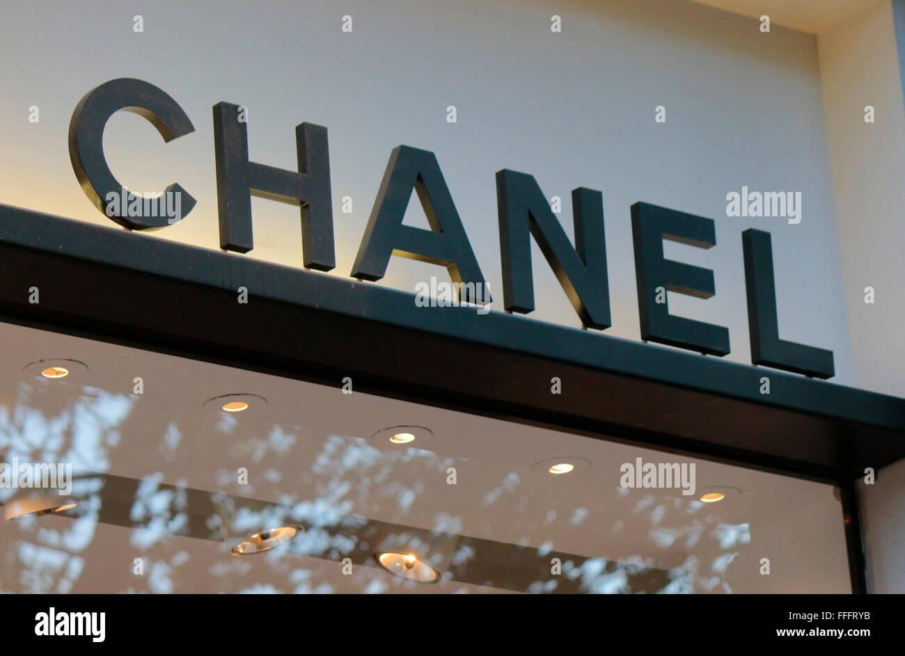 Chanel Berlin chanel logo stock photos chanel logo stock images alamy