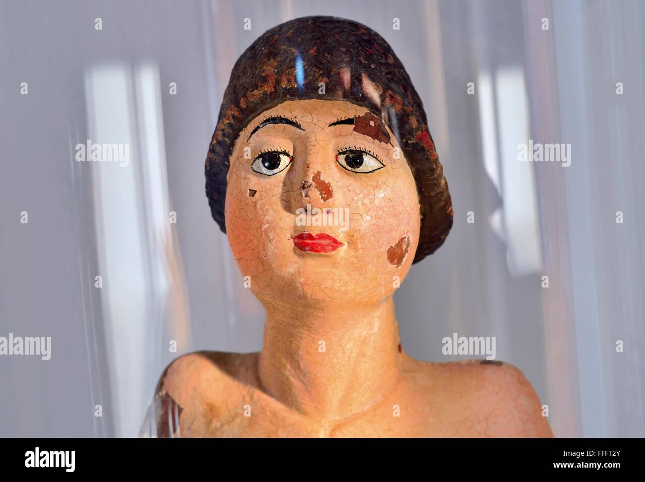 Portugal, Alentejo: Detail of the medieval statue of Saint Sebastian in the Museum of Arte Sacra in Mértola - Stock Image