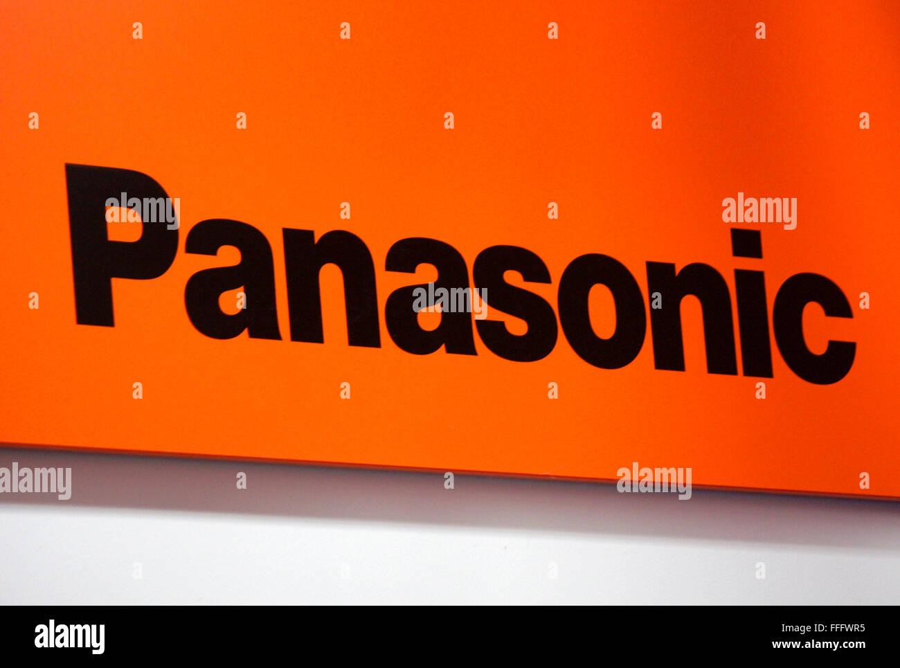 Markenname: 'Panasonic', Dezember 2013, Berlin. - Stock Image