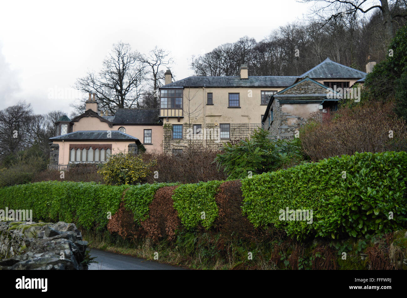 Brantwood House Coniston Lake District - Stock Image