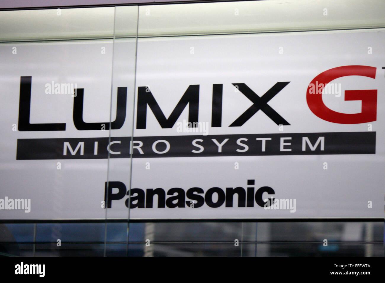 Markenname: 'Panasonic Lumix G', Dezember 2013, Berlin. - Stock Image