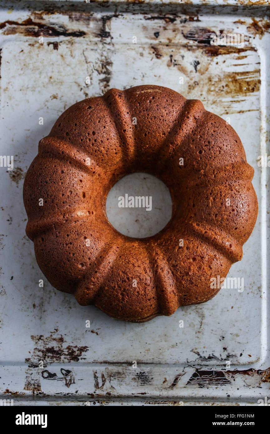 Bundt cake - Stock Image