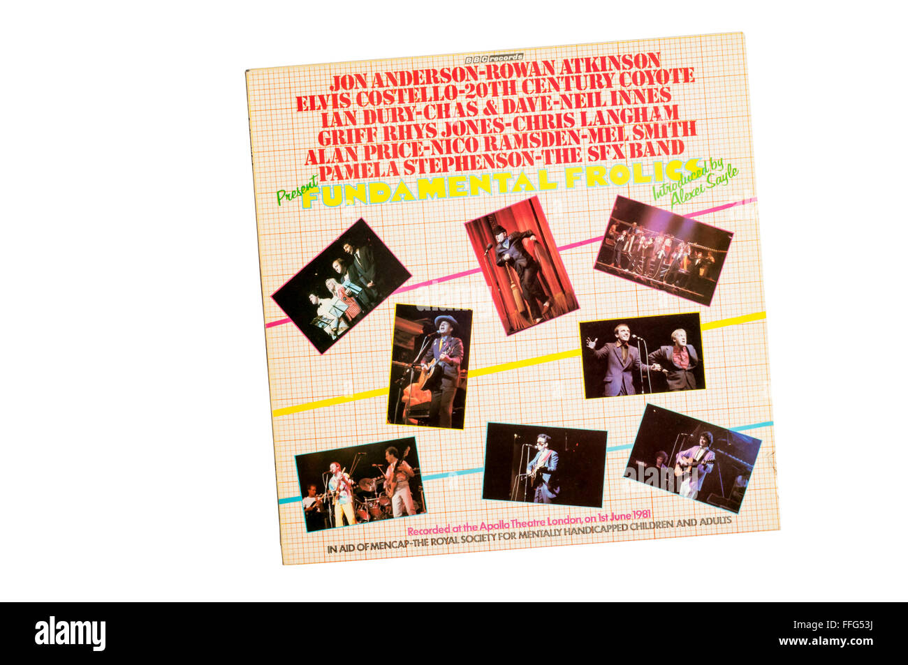 Fundamental Frolics was a 1981 charity concert in aid of Mencap. - Stock Image