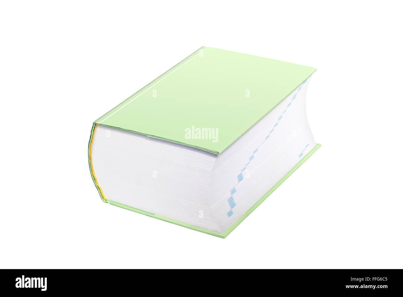 Large Green Reference Type Book With Cover Blank for Copy Space - Stock Image