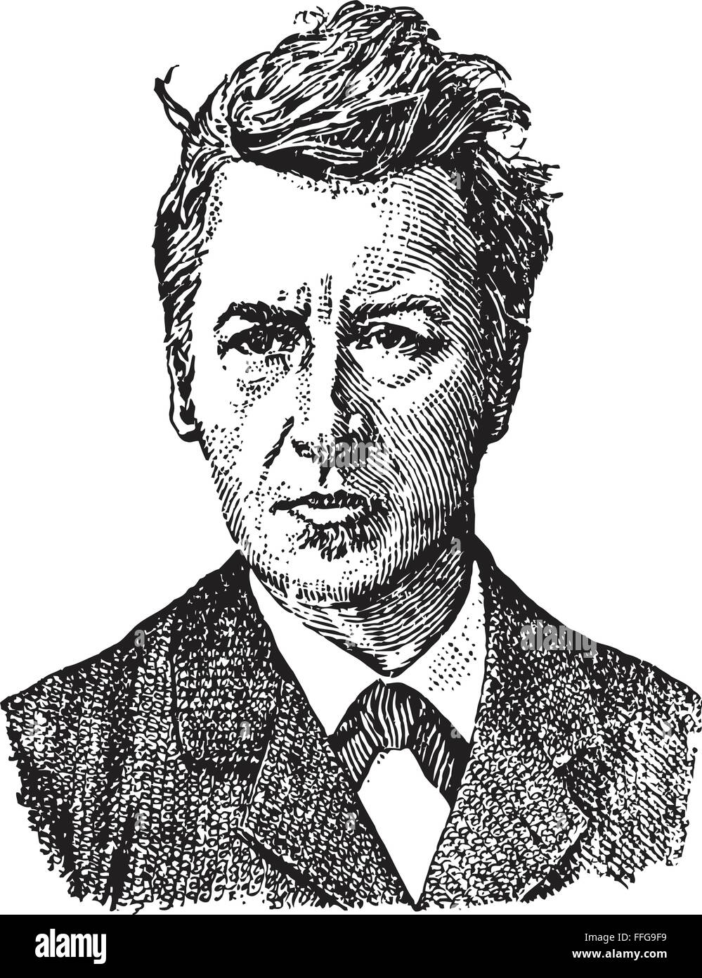 Jacobus Henricus van 't Hoff (1852-1911), Dutch physical and organic chemist, first winner of the Nobel Prize - Stock Vector