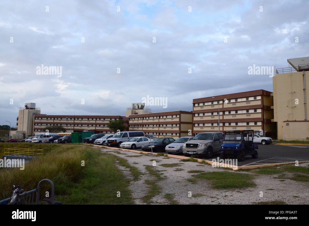 gold hill towers guantanamo bay cuba gtmo civilian housing block - Stock Image