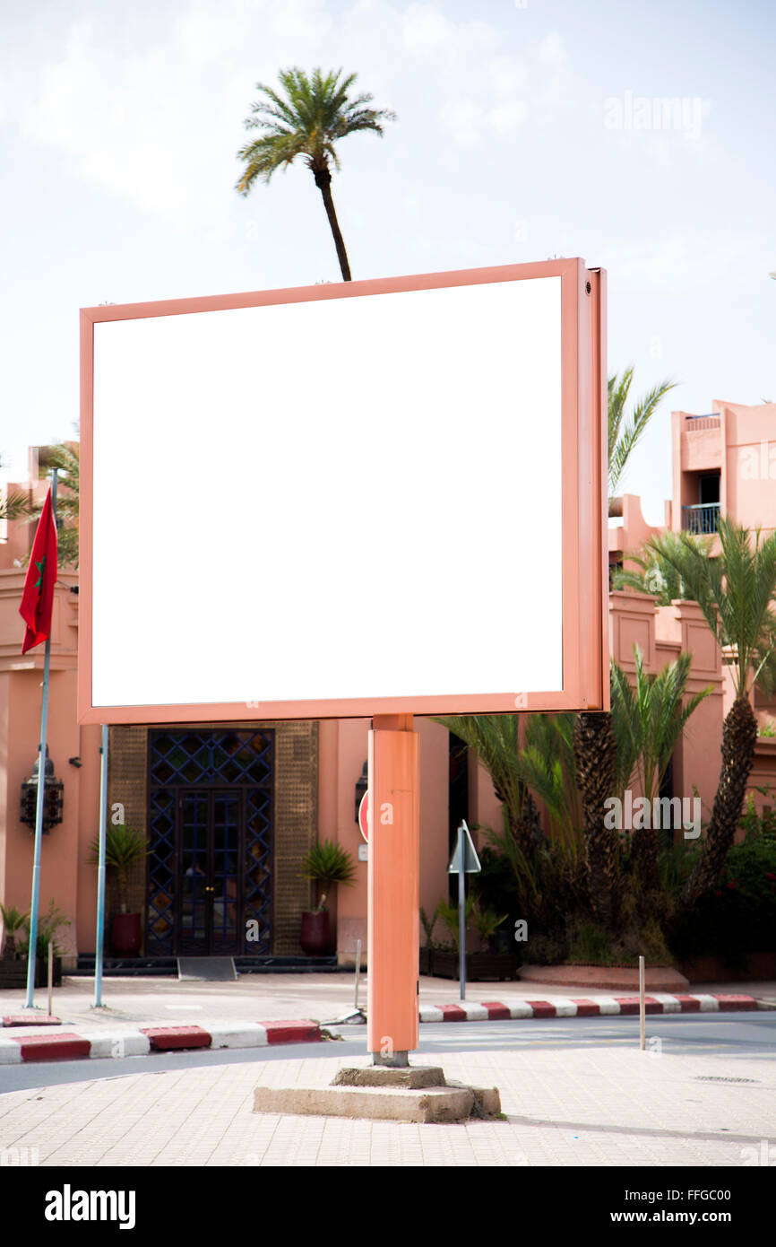 Empty billboard with copy space - Stock Image
