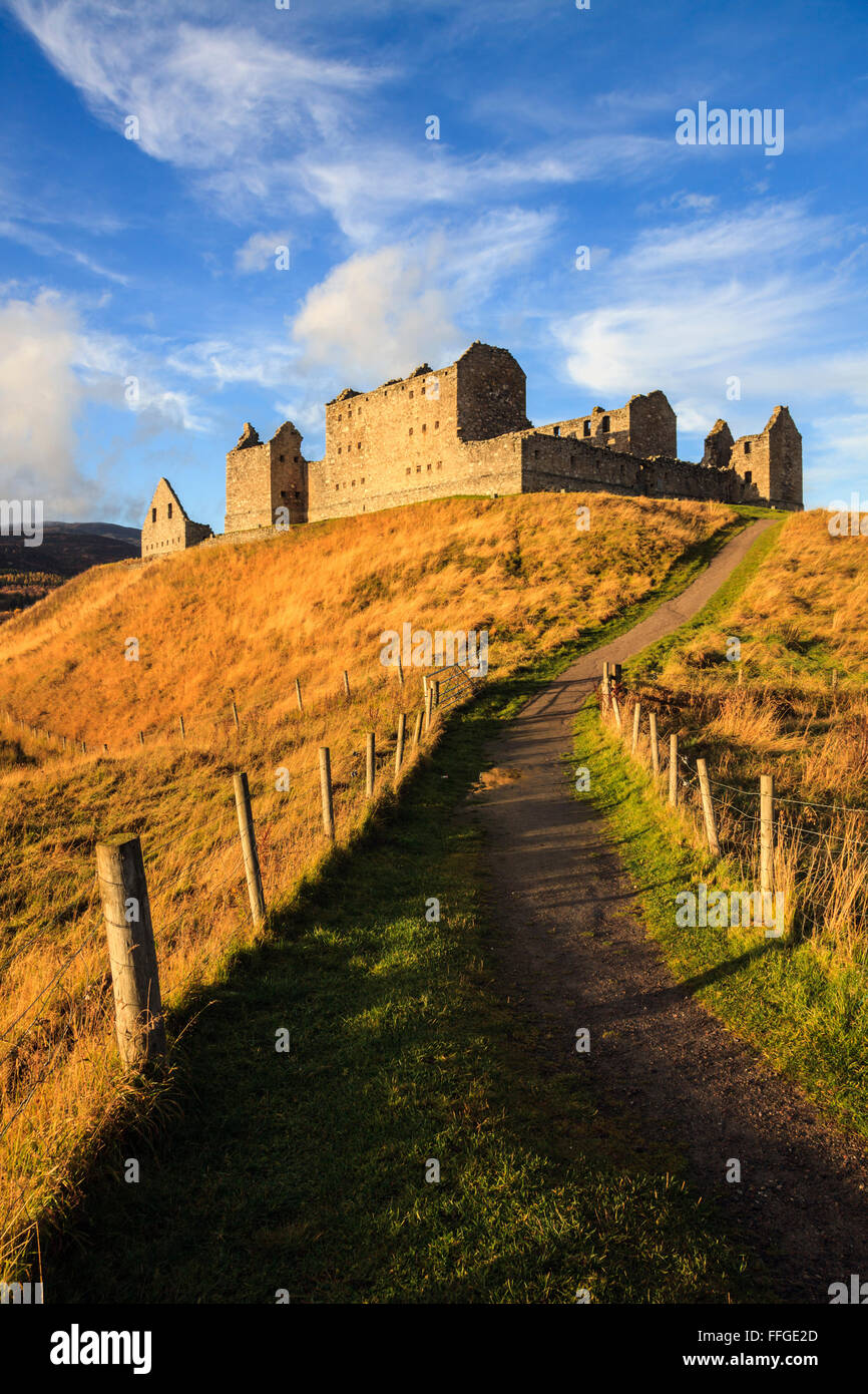 Ruthven Barracks in the  Cairngorms National Park. - Stock Image