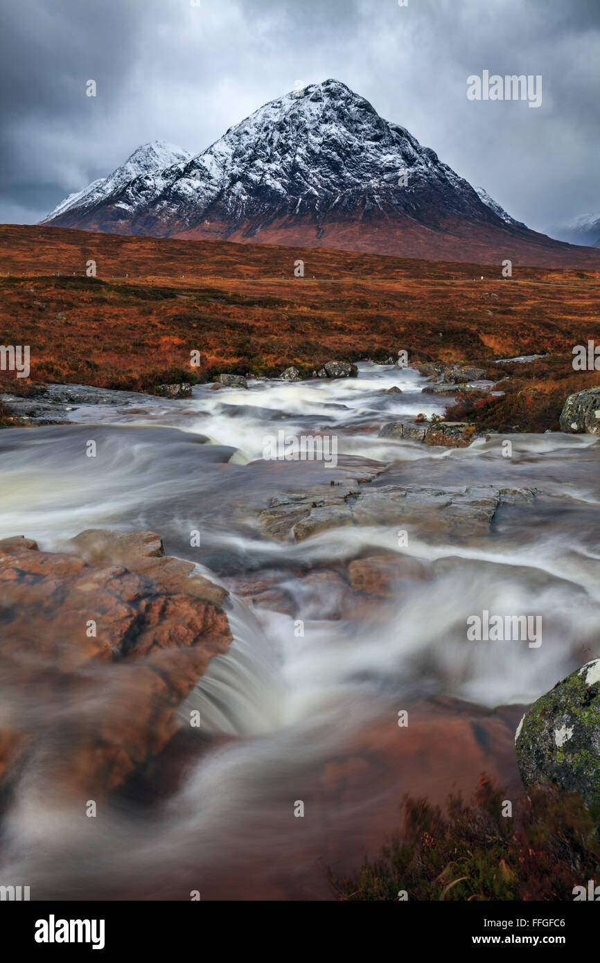 The Cauldron on Rannoch Moor in Scotland. Stock Photo