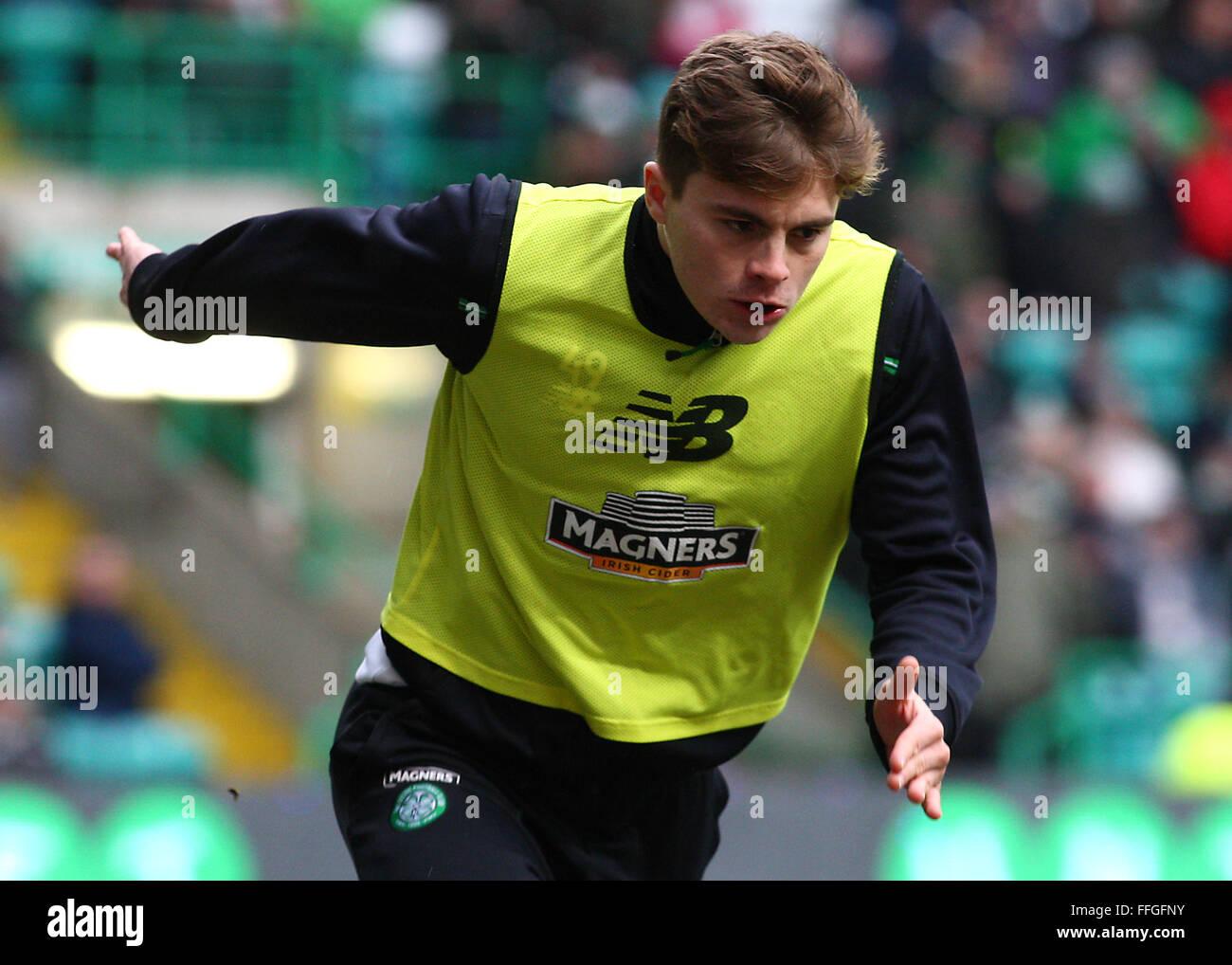 Glasgow, Scotland, UK. 13th Feb, 2016. James Forrest of Celtic during the Celtic v Ross County Ladbrokes Scottish - Stock Image
