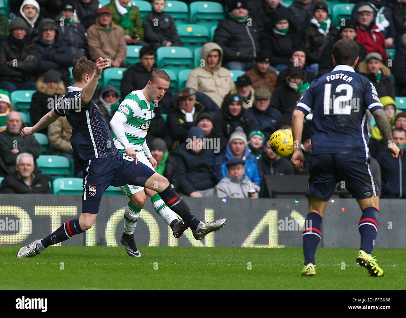 Leigh Griffiths of Celtic during the Celtic v Ross County Ladbrokes Scottish Premiership match at Celtic Park, Glasgow - Stock Image