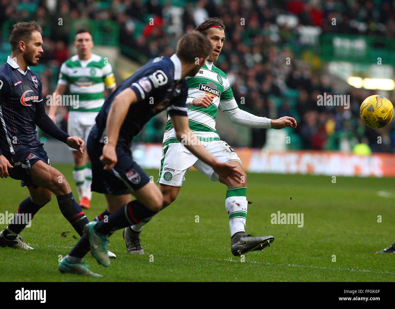 Erik Sviatchenko of Celtic during the Celtic v Ross County Ladbrokes Scottish Premiership match at Celtic Park, - Stock Image